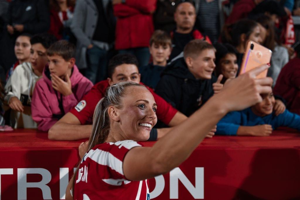 Toni Duggan Atlético de Madrid Femenino Barça Femení Champions League match preview