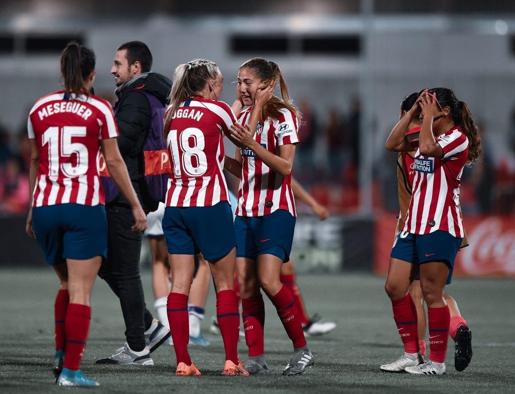 Toni Duggan Laia Aleixandri Atlético de Madrid Femenino Barça Femení Champions League match preview