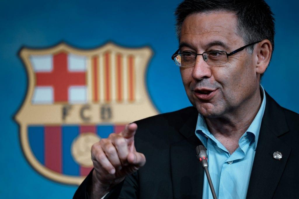 Josep Maria Bartomeu Lionel Messi leaving Barça