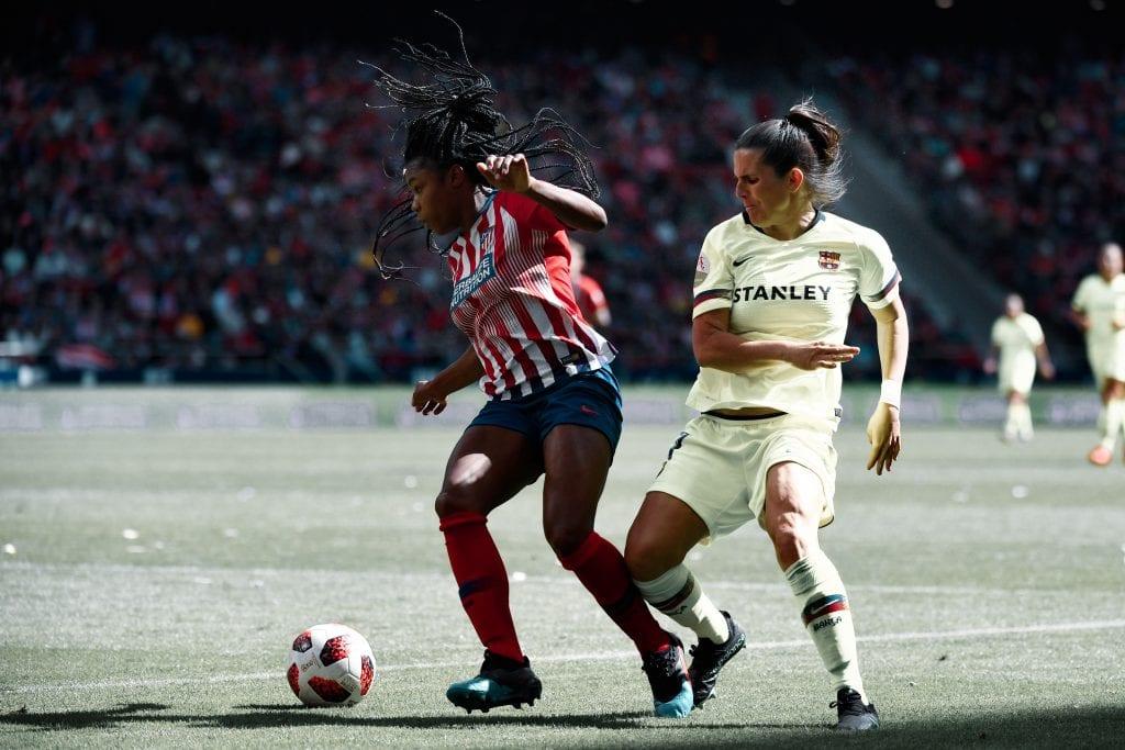 Andrea Pereira Atlético de Madrid Femenino Barça Femení Champions League match preview