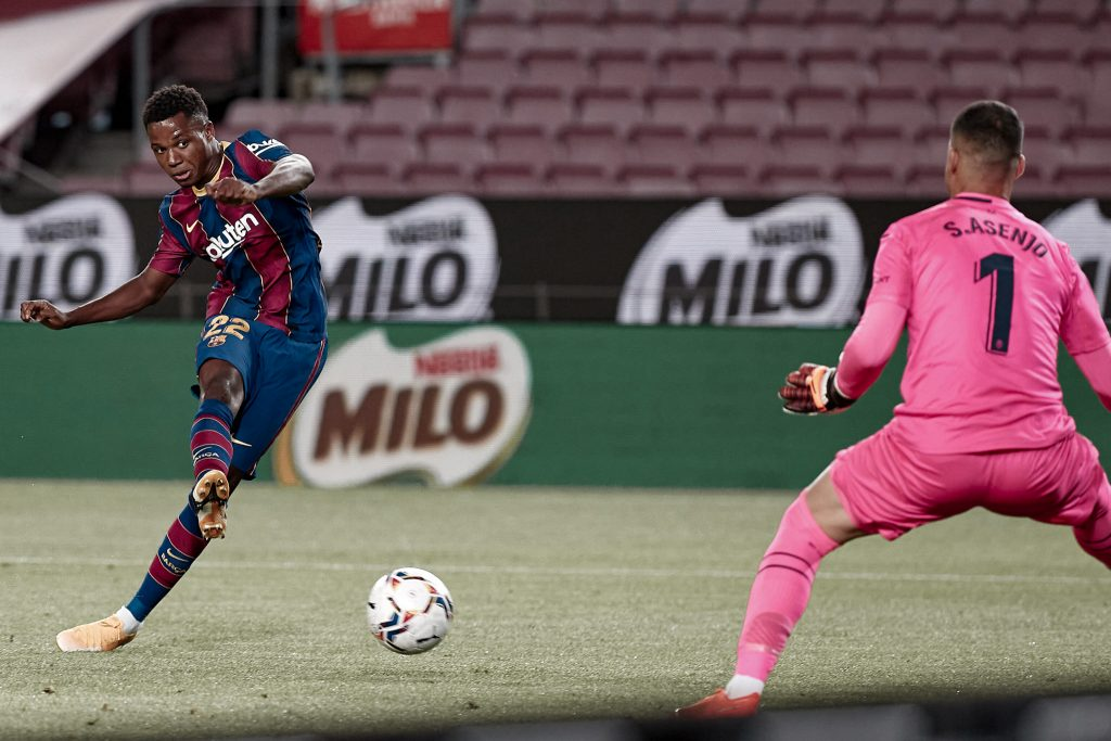 Ansu Fati goal Villarreal