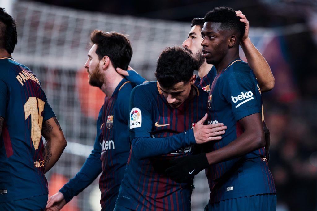 Ousmane Dembélé Philippe Coutinho Barcelona 6–1 Girona 2018