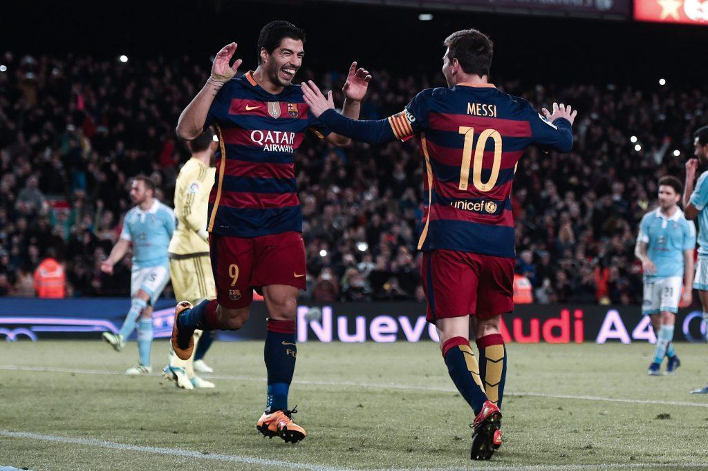 Suarez Messi Celta Vigo