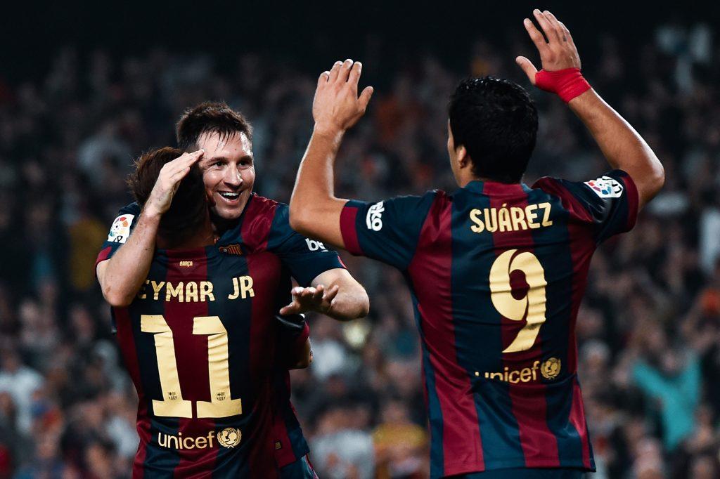 Luis Suárez Neymar Júnior Lionel Messi Barcelona legend