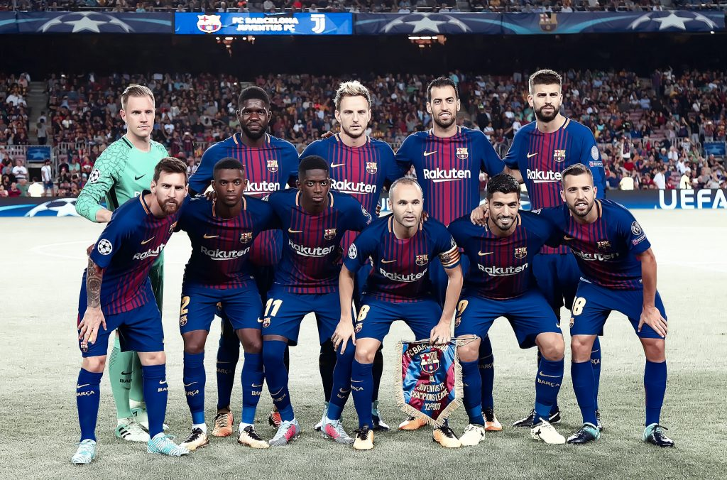 barcelona line-up juventus 3-0