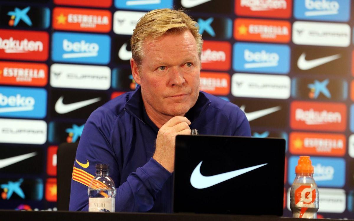 ronald koeman press conference barcelona-ის სურათის შედეგი