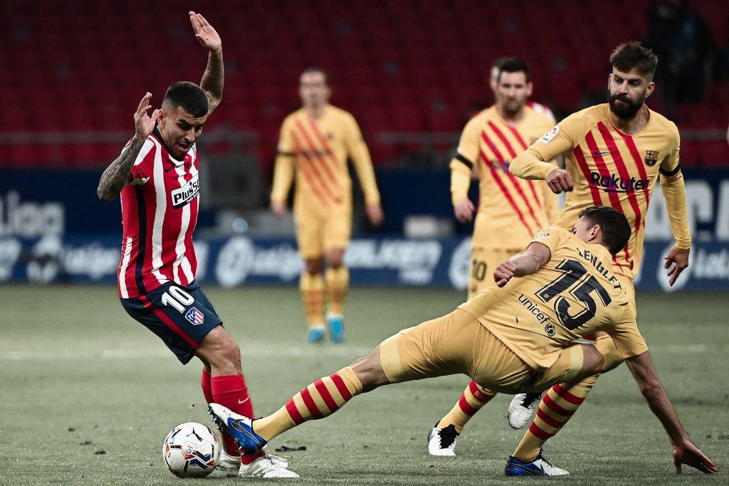Clement Lenglet Gerard Pique Angel Correa Atletico Madrid