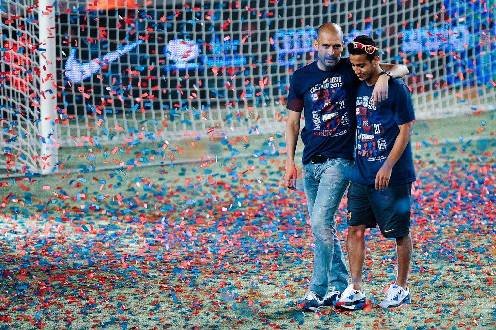 Thiago Alcantara Pep Guardiola Barcelona