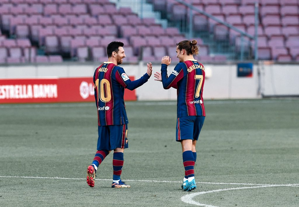 Messi Griezmann Barcelona Osasuna