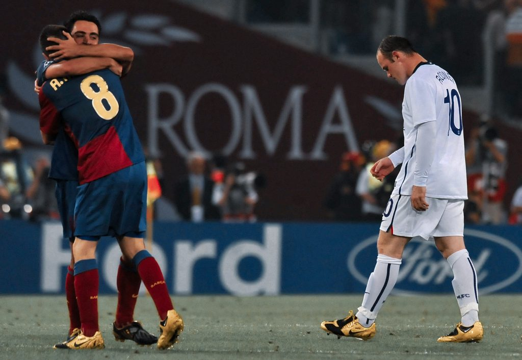 iniesta Xavi Rooney Manchester United 2009 icl final
