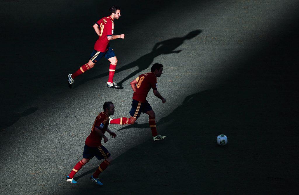 Xavi captain Spain Fabregas Iniesta