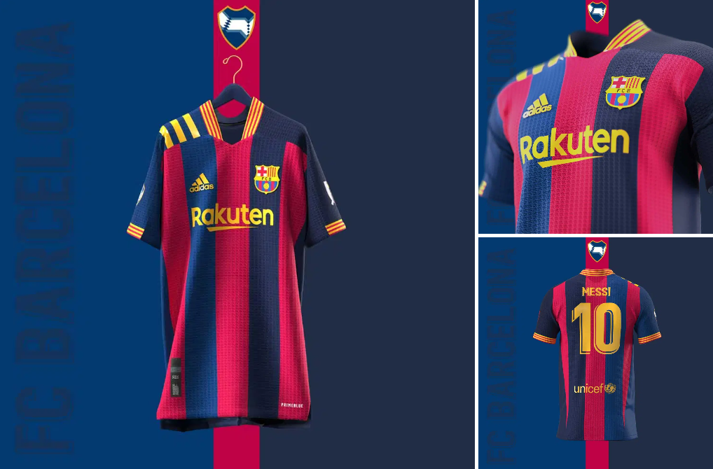 Barcelona concept kits featuring Adidas: A thing of beauty | Barca ...