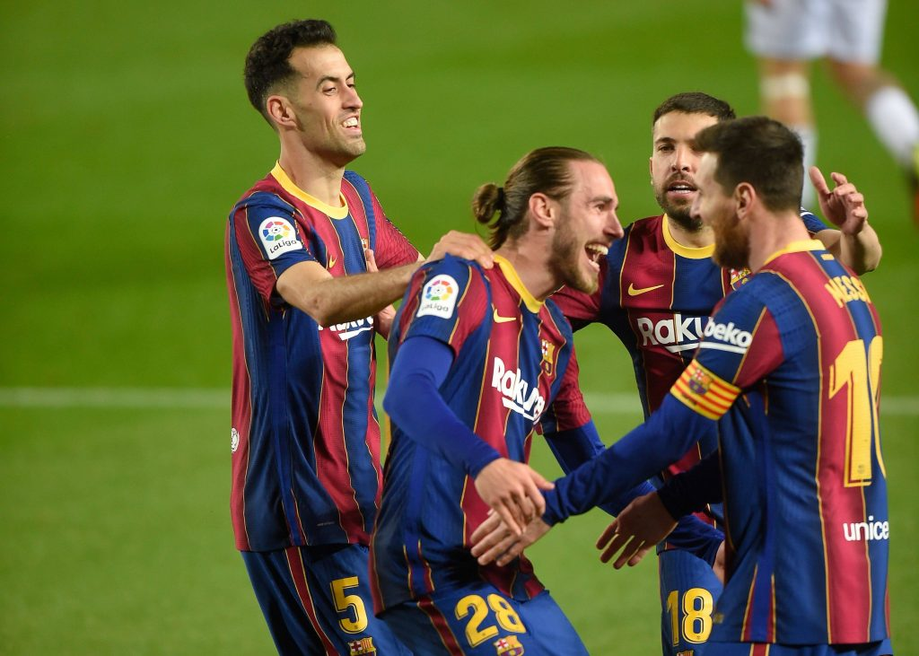 Mingueza Busquets Alba Messi Barcelona